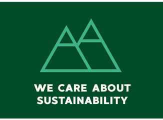 We care about sustainability