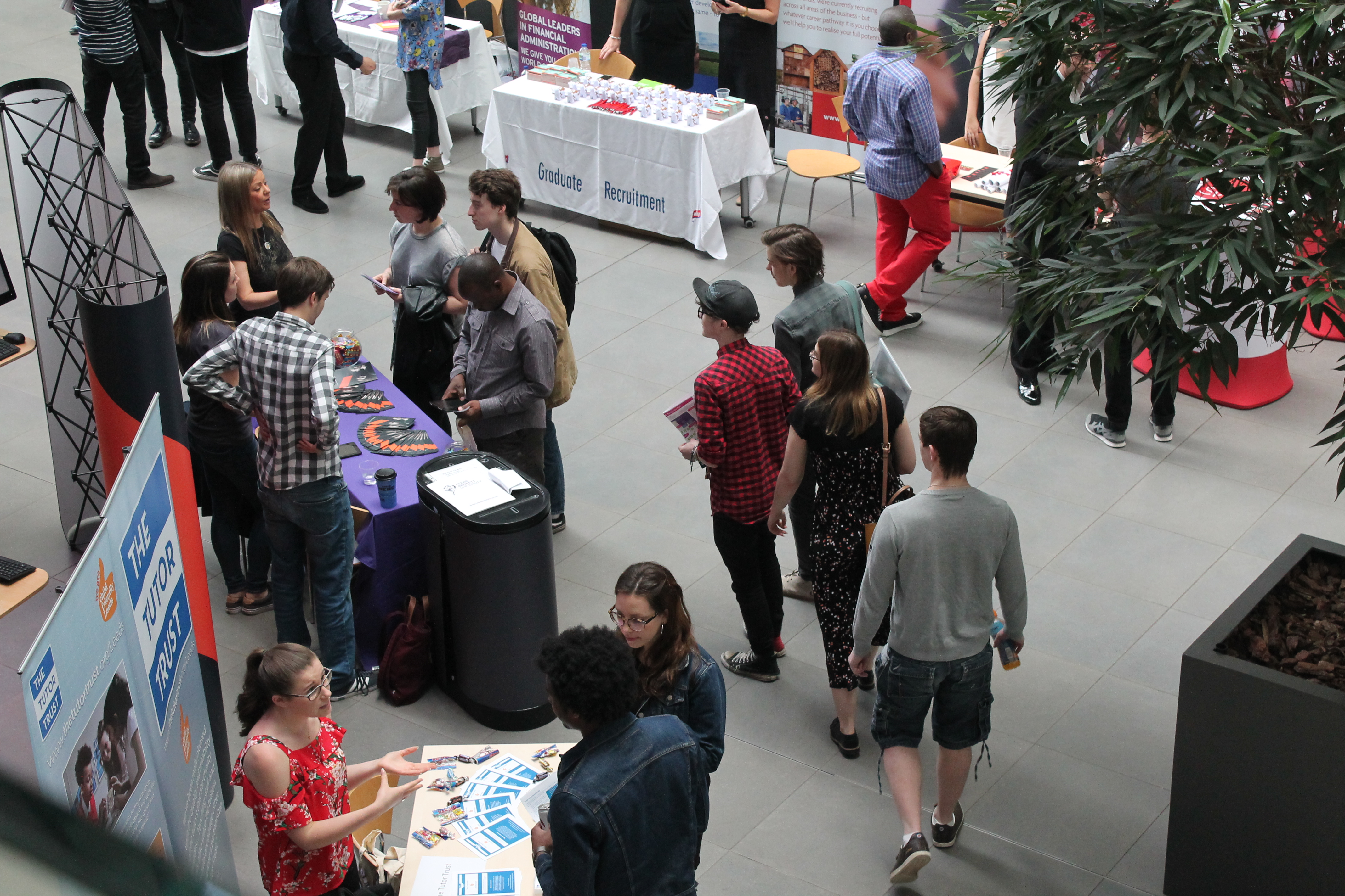 People at a careers fair