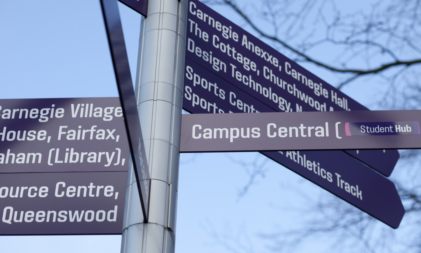 signpost headingley campus