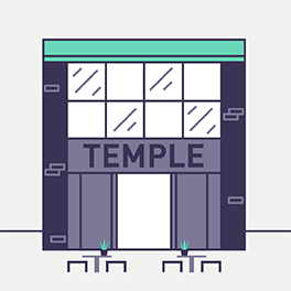 Temple coffee graphic