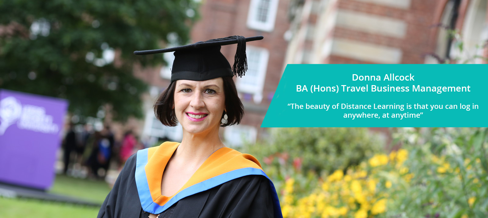Donna Allcock Distance Learning Graduate