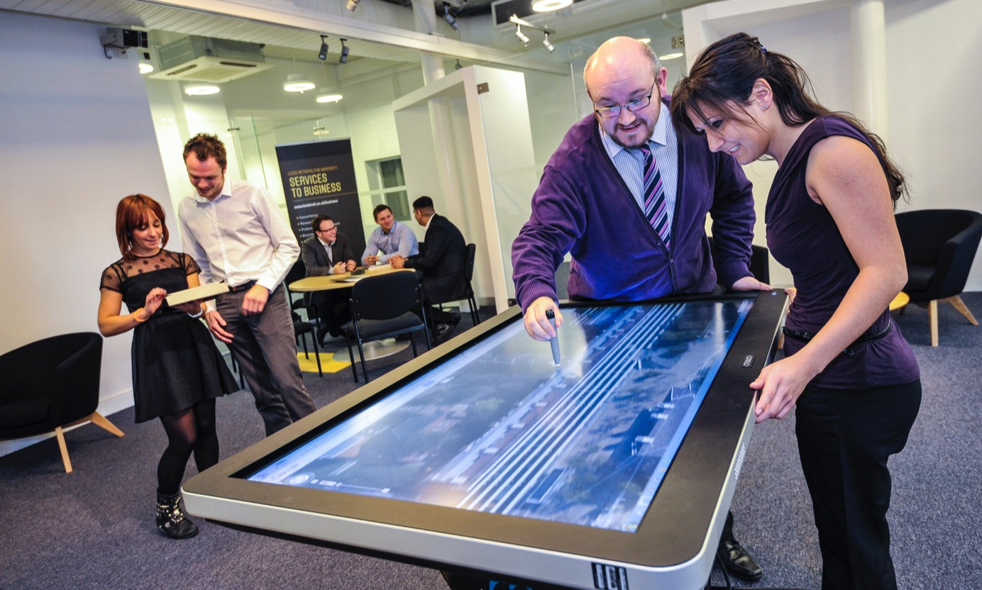 business suite with interactive screen