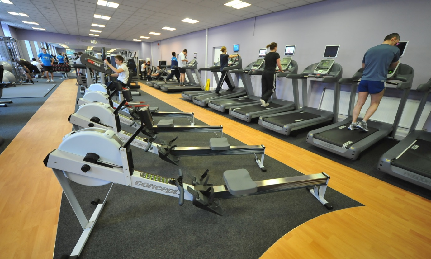 Fitness machines at Headingley gym