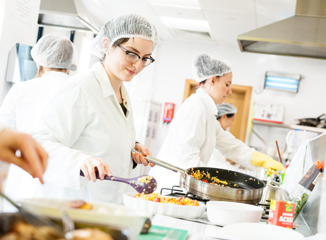 Nutrition Kitchen: small scale catering laboratory