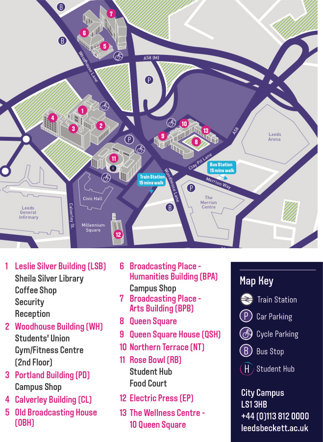 City Campus Map