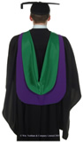 Postgraduate graduation gown
