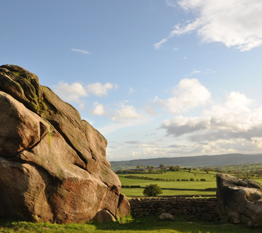 Brimham Rocks in Yorkshire