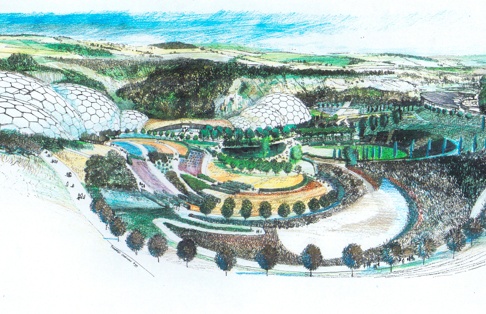 Drawing of the Eden Project
