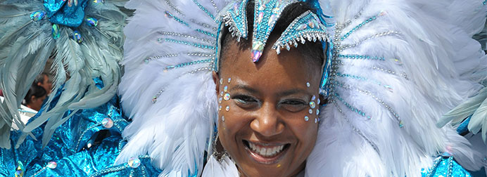 Woman smiling at carnival