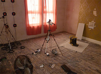 thermal imagery equipment in a room