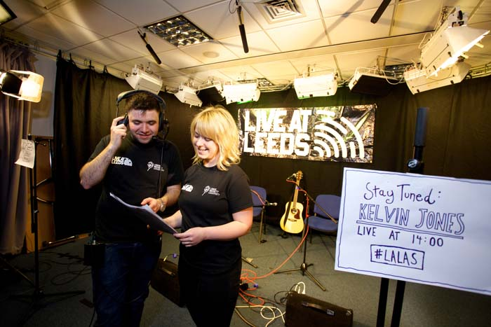 Students working at the 2015 Live at Leeds music festival