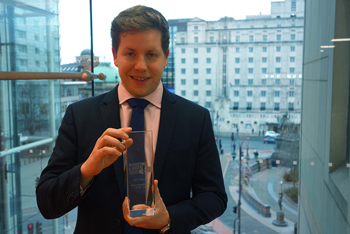 Beckett business graduate scoops top boss award