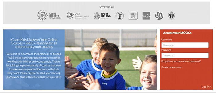 iCoachKids website screenshot