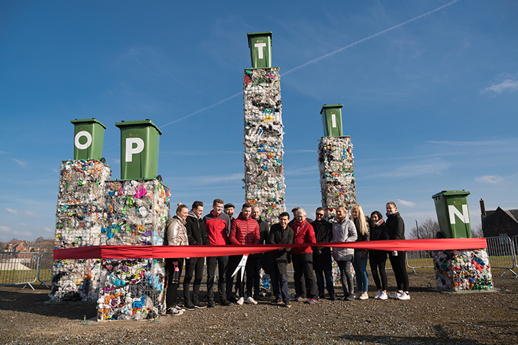 Seven metre art installation in Leeds to encourage more recycling