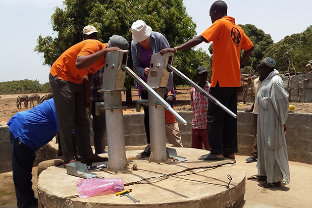 Innovative water pump system extended to The Gambia