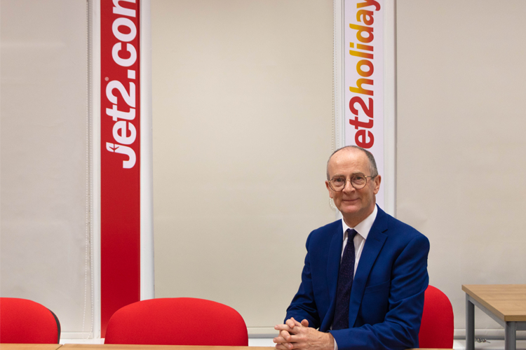 Professor Rhodri Thomas, Dean of the School of Events, Tourism and Hospitality Management, helped open the new Jet2.com suite