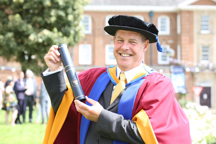 MBE who shaped Leeds's sporting landscape receives honorary degree
