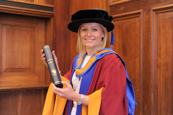 Chief Executive of Severn Trent Water, Liv Garfield, receives honorary degree