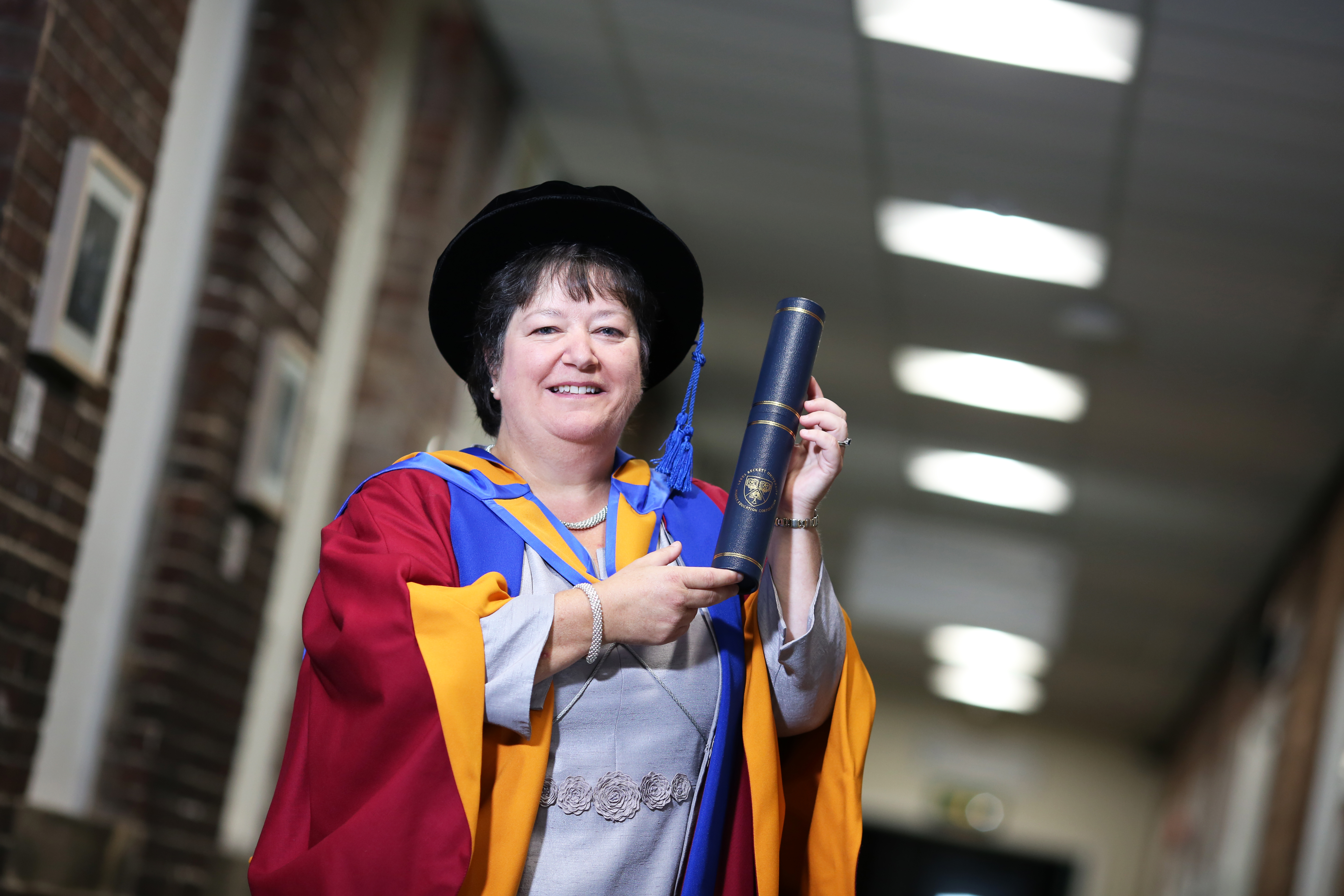 Leeds Community Foundation leader, Sally-Anne Greenfield, receives honorary degree