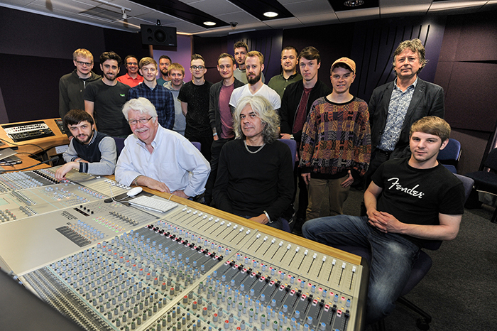 Musicians behind Oasis and Paul Weller record with students at Leeds Beckett