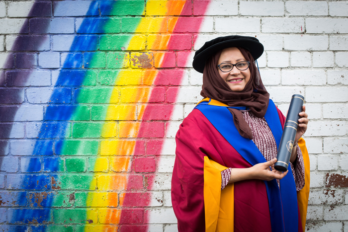 Shantona Women's Centre Chief Executive, Nahid Rasool, receives honorary degree