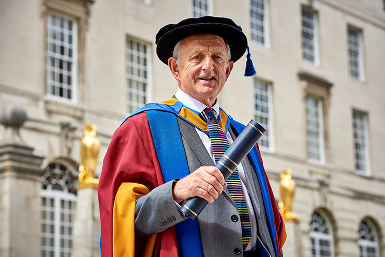 Keith Wakefield OBE awarded Honorary Doctorate