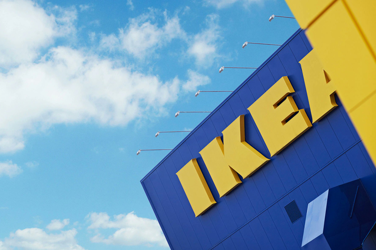 IKEA store with blue sky