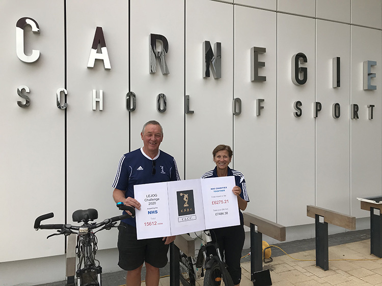 Alumni charity challenge outside CSS new building 1