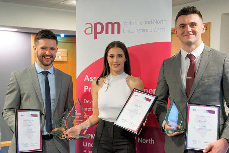 Undergraduate Project Manager wins regional 'student of the year' award