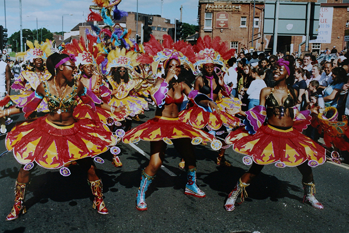 2001 Carnival people on Roundhay Road