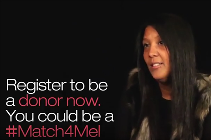 Leeds Beckett student video supporting #Match4Mel campaign promoted by MOBO