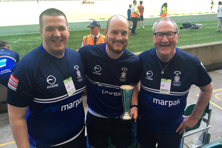 Local coaching team competing with England greats for award