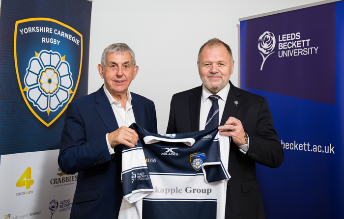 Leeds Beckett extend rugby partnership with Yorkshire Carnegie