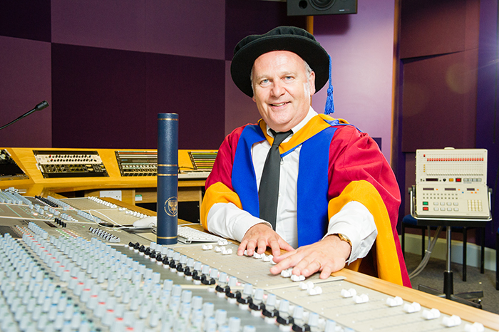 From LP to PhD: 90s boy band producer is a hit at graduation