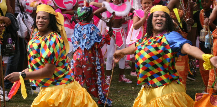 Dancers at the Leeds West Indian Carnival, by Max Farrar