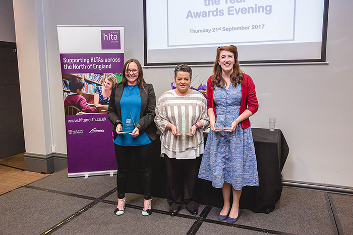 The winners: Amanda Russell (Methley Primary School, Leeds), Sylvie Litt-Wilson (St Bega's Church of England Primary School in Cumbria) and Gemma Moppett (Easington Lane Primary School, Houghten le Spring