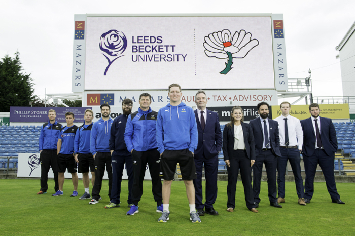 Leeds Beckett renew partnership with Yorkshire County Cricket Club