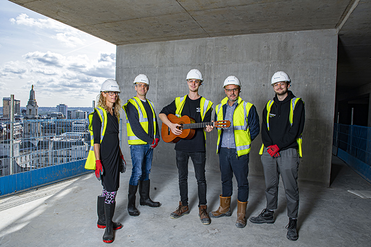 Creative Arts building topping out ceremony hits the high notes