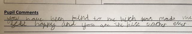 Comment from one of Zahid's students