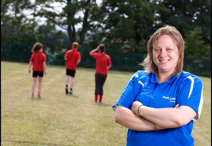 Woman doing sports coaching