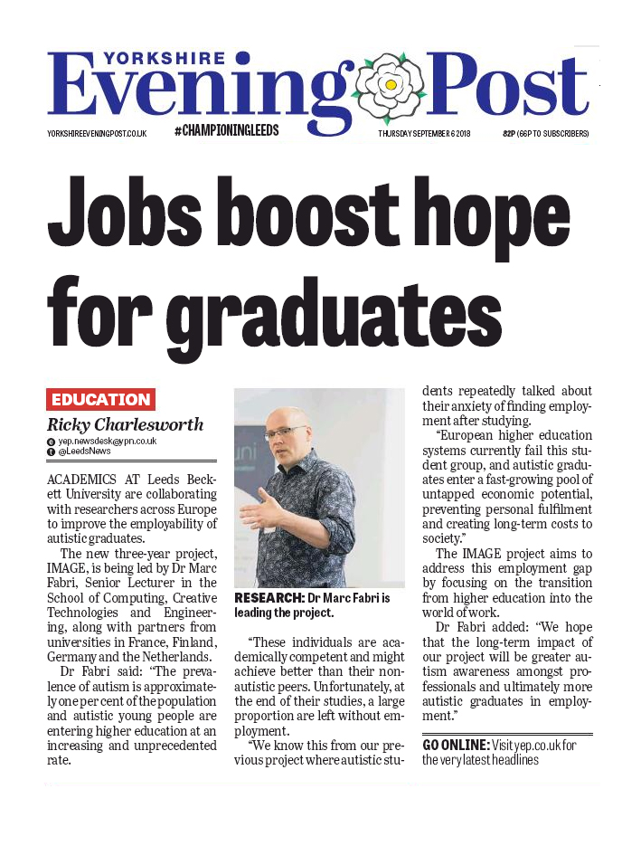 Jobs boost hope for graduates - Yorkshire Evening Post article
