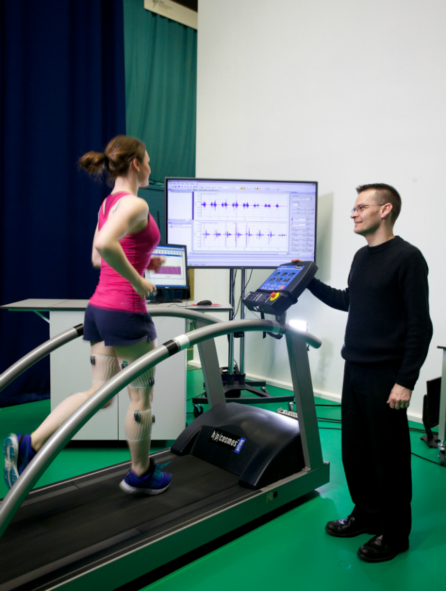 sport science research - girl on treadmill