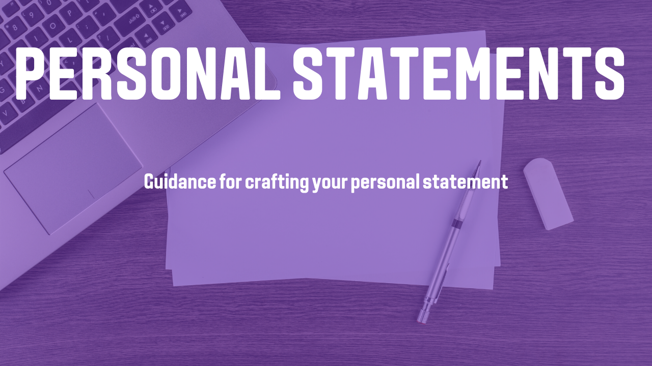 Video thumbnail of Guidance for your personal statement