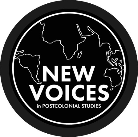 "New Voices logo ""New Voices, Postcolonial Stories"""