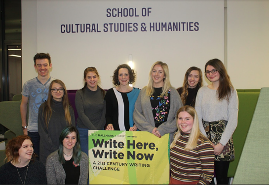 Students from the School of Cultural Studies and Humanities who have worked on the Hallmark project.