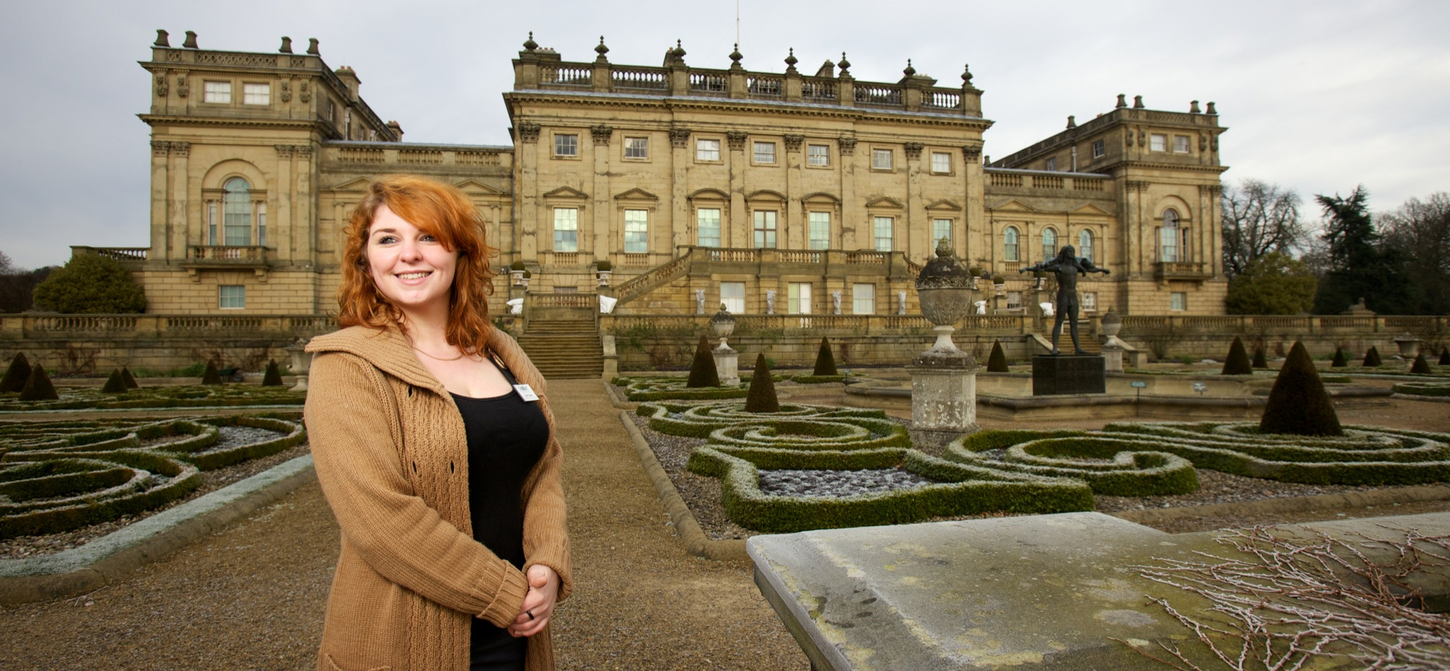 A student on placement in Harewood House