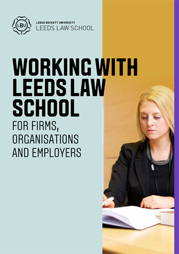 Working with Leeds Law School Brochure