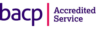 picture of the bacp logo indicating an accredited service