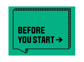 Before you start