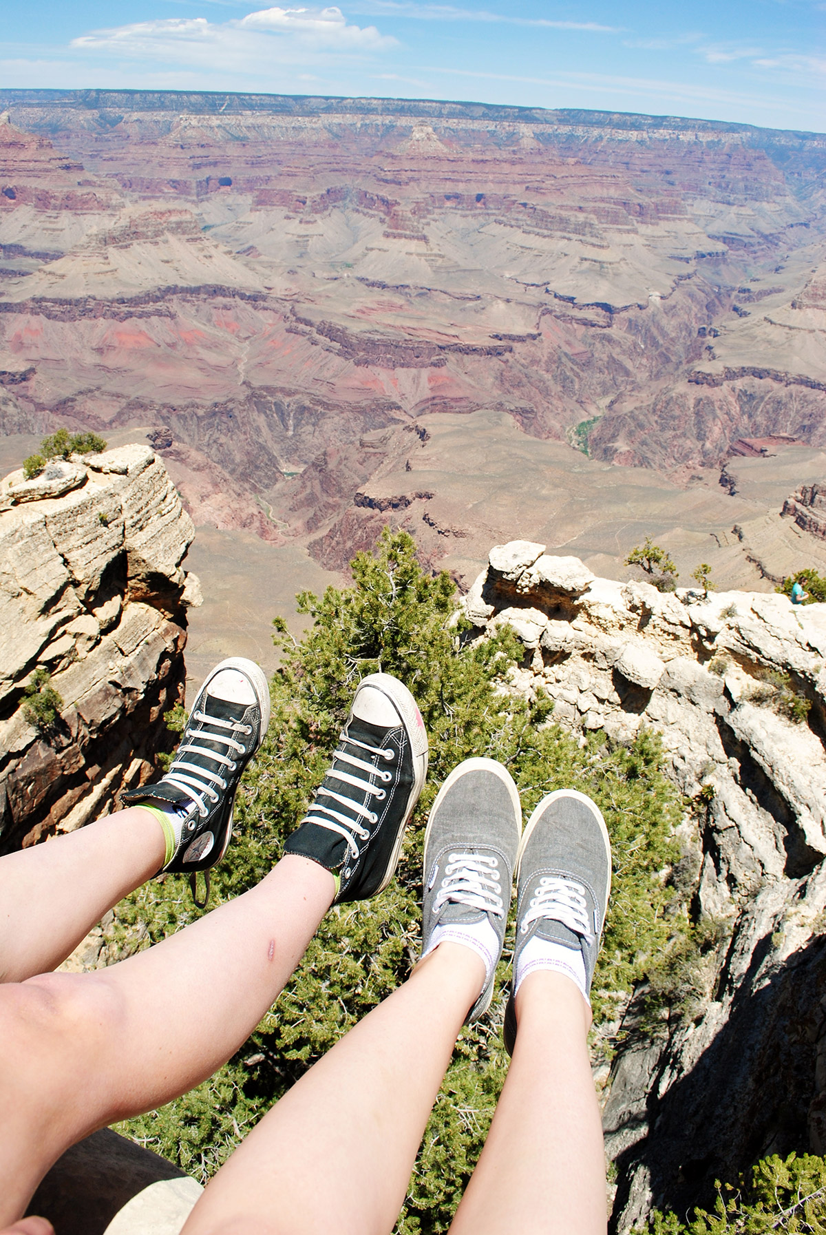 Looking down into the Grand Canyon